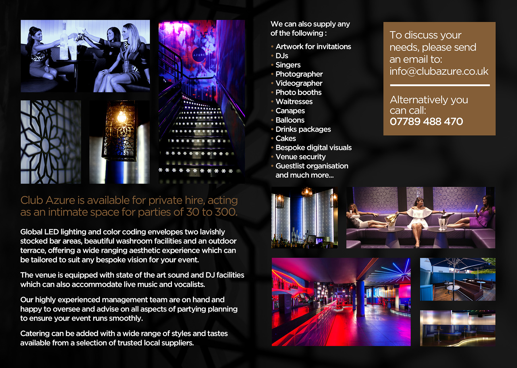 Private Hire @ Club Azure Enfield